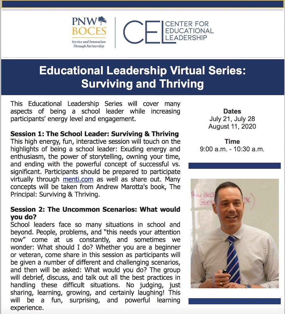 Educational Leadership Virtual Series